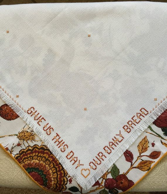 Finished Thanksgiving Bread Cloth/NapkinGive us by ontheroadmama