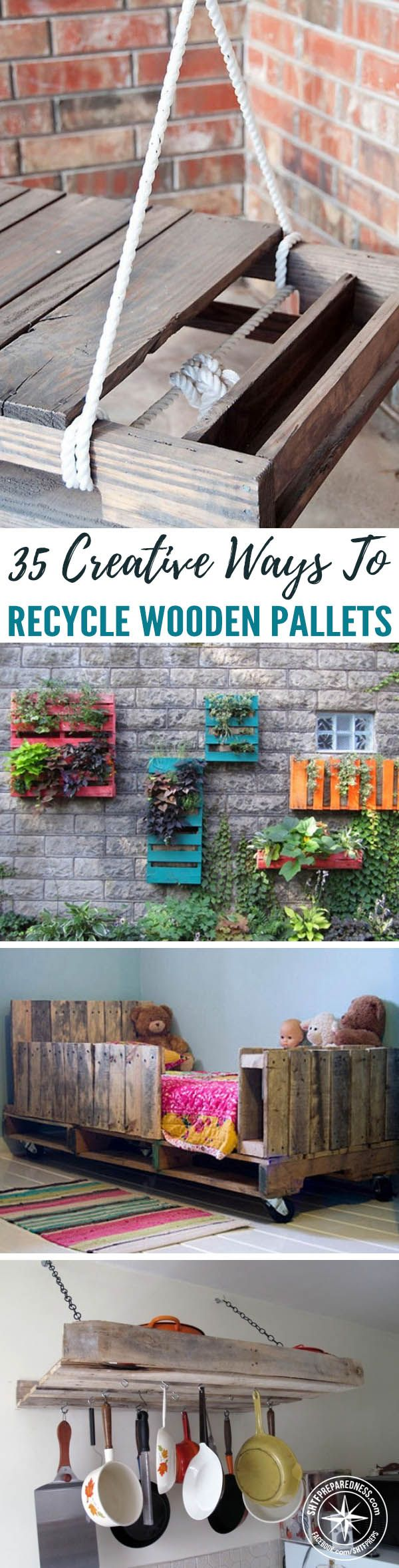 35 Creative Ways To Recycle Wooden Pallets — When you're sticking to a self-sufficient, green, and economic lifestyle, you become familiar with salvaging and repurposing materials. Pallets are great for repurposing since they have a sturdy build and are usually made out of quality wood.