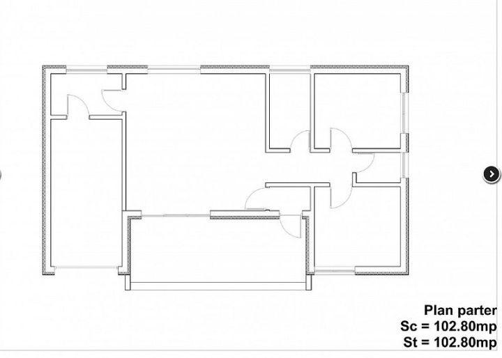 case mici cu doua dormitoare Small two bedroom house plans 8