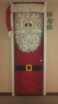 Santa Door Decoration   This Gets My Vote For The Best Door Decorating  Contest.