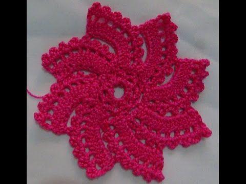 ▶ Tutorial Paso a Paso Como Tejer Girándula a Crochet - YouTube