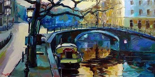 """Daily Paintworks - """"Die Grachten 8"""" by Jurij Frey"""