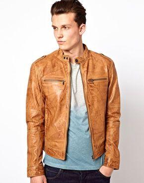 Giacche uomo in pelle   Modelli di cappotti in pelle e giacche da motoclista   ASOS