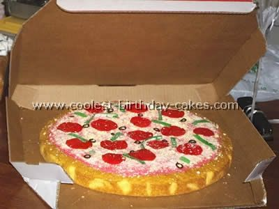 pizza birthday cake!!!