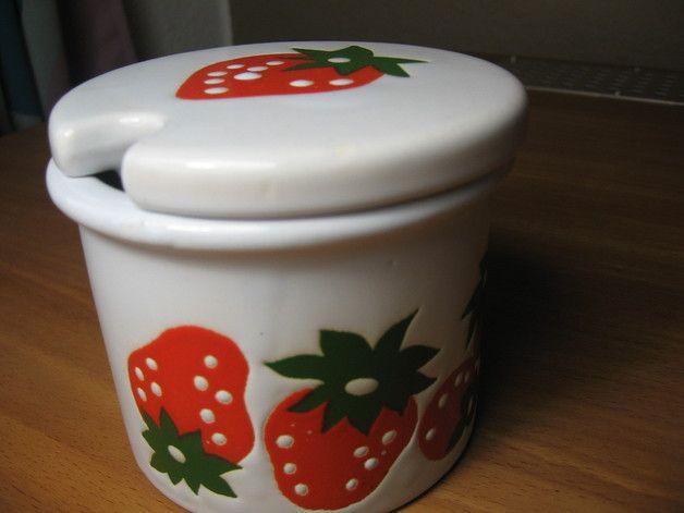 Marmeladentopf Erdbeere vintage