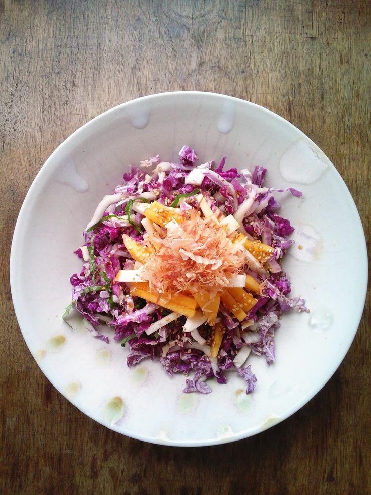 紫白菜と柿のサラダ by ひな | レシピサイト「Nadia | ナディア」プロの料理を無料で検索