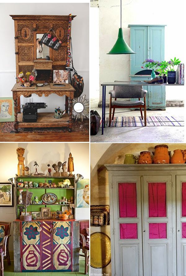 Boho-chic cabinets   cupboards
