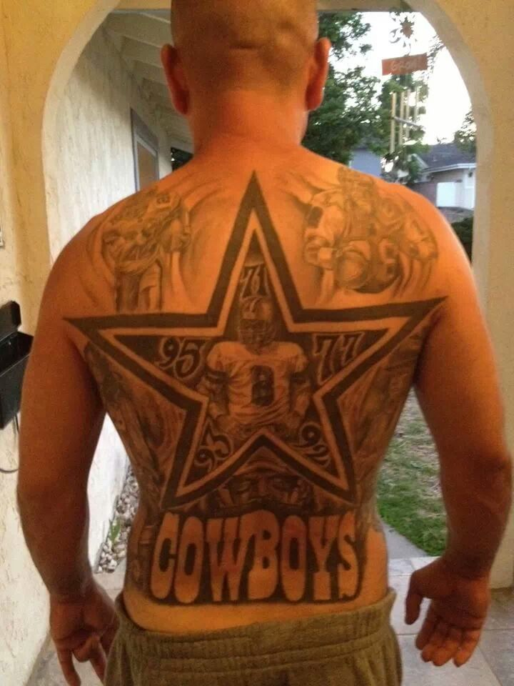 Best 20 dallas cowboys tattoo 39 s images on pinterest for Dallas cowboys star tattoo