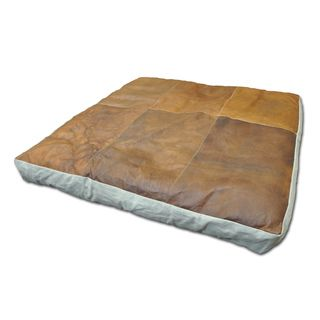Cottage Home Cooper Leather Floor Cushion (35x35) | Overstock.com Shopping  - Great