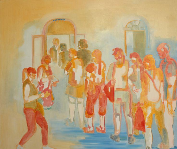 'Ice sCream', oil paint on canvas, 110,5cm x 130cm by Indira Hamaker