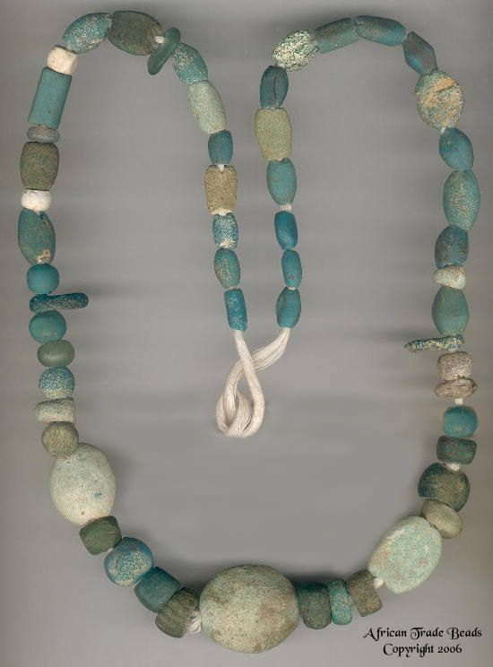 Ancient Blue Glass mixed with Egyptian Faience beads   The origins of Faience beads date from around 40,000 years ago.
