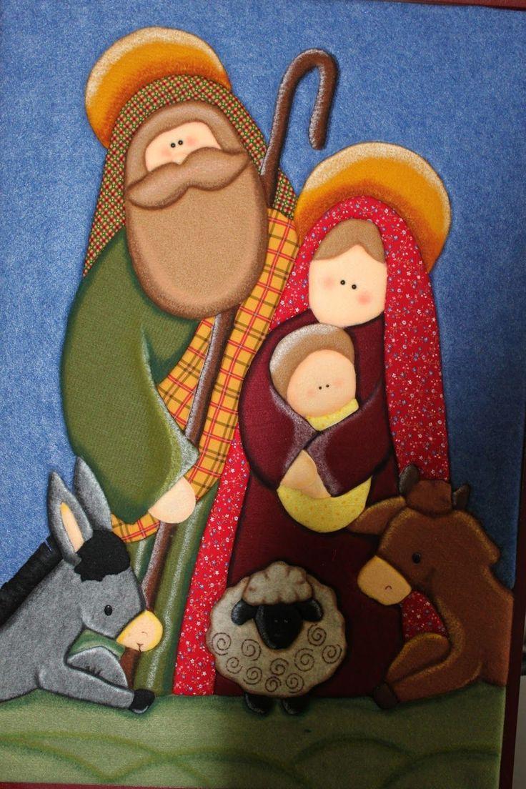 LABORES DE LILIANA: Nacimiento Country Cuadro en Patchwork sin aguja,, son muy faciles de realizar, con icopor, paño lency, se puede adaptar el molde que se desee, los realizamos para disfrutarlos en la navidad del 2012