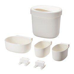 ÖNSKLIG Opbevaring til puslebord 4 dele, hvid - hvid - IKEA