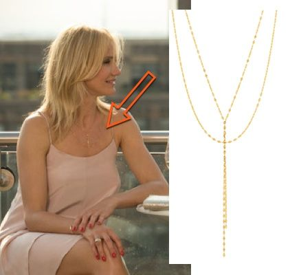 Cameron Diaz other woman movie carly gold wrap lariat necklace OTHER WOMAN MOVIE FASHION PT 2: CAMERON DIAZS WARDROBE
