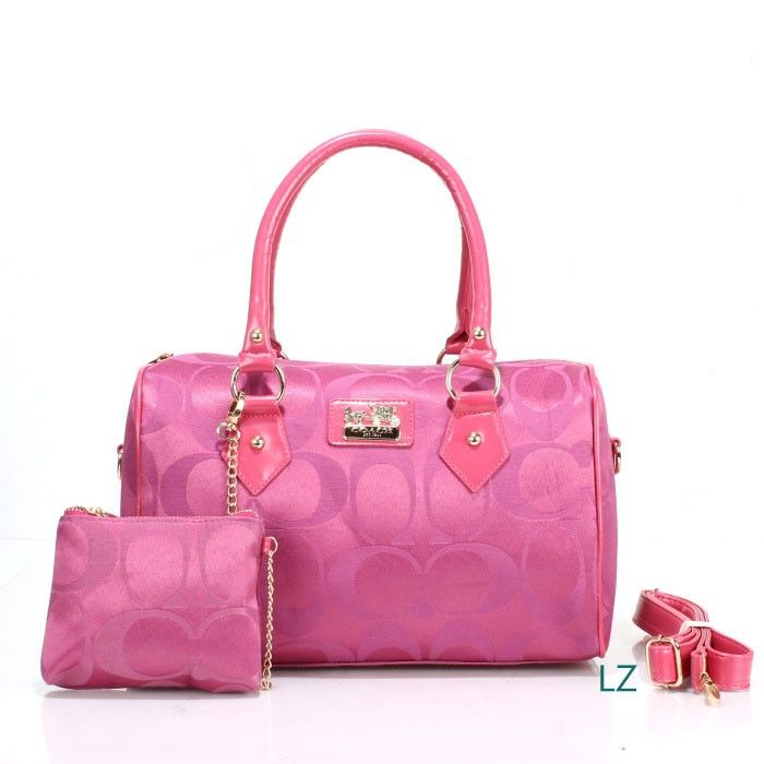 Coach Logo Monogram LZ704 Two-Piece Satchel In Rose