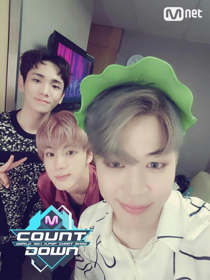 Jimin, Jin BTS & Key Shinee MCOUNTDOWN