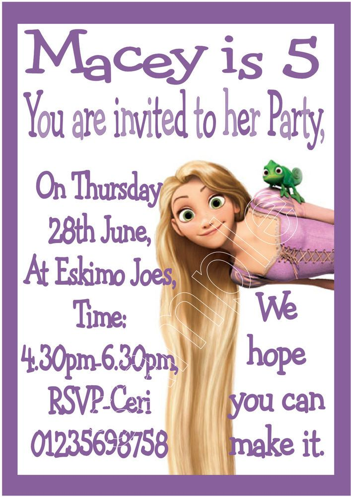 17 best Rapunzel Themed Birthday Party Invitations images on ...