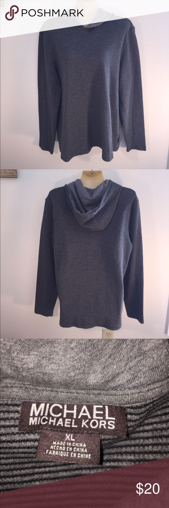 Michael Kors XL Pull Over Hood Perfect w/Leggings Michael Kors XL Pull Over with Hood Perfect with Leggings or Jeans Casual Top for Everyday Errands EUC MICHAEL Michael Kors Tops