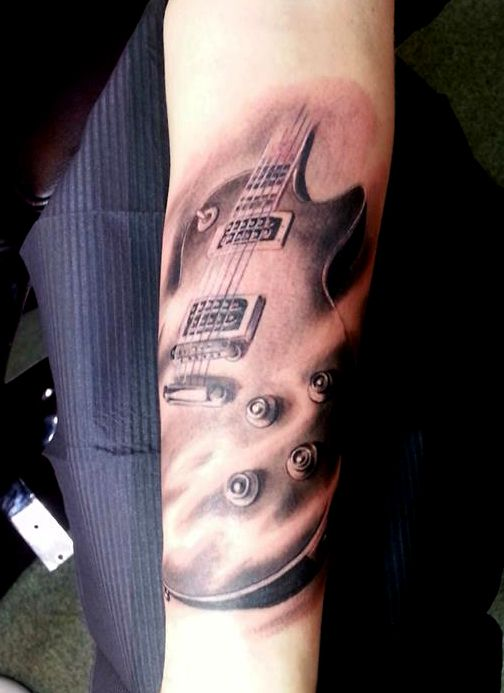 les paul guitar tattoo tattoos music pinterest guitare tatouages et tatouage de guitare. Black Bedroom Furniture Sets. Home Design Ideas