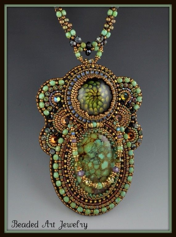 Reserved for carla bead embroidered beaded beadwork