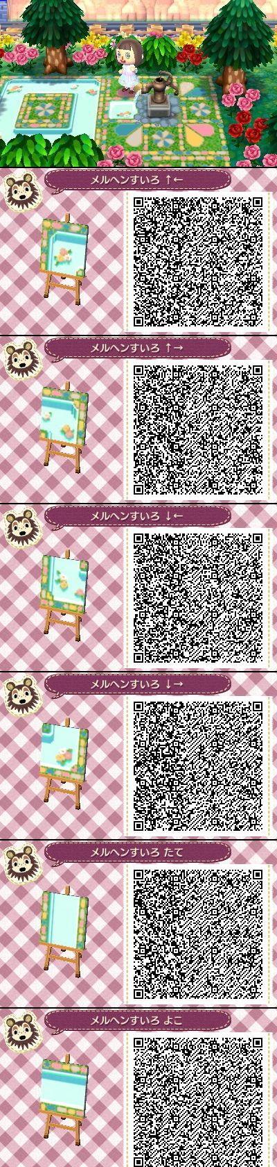 Animal Crossing New Leaf QR codes cute water path