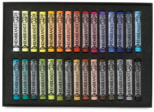 A Boxed set of 30 General Soft Pastels by Rembrandt