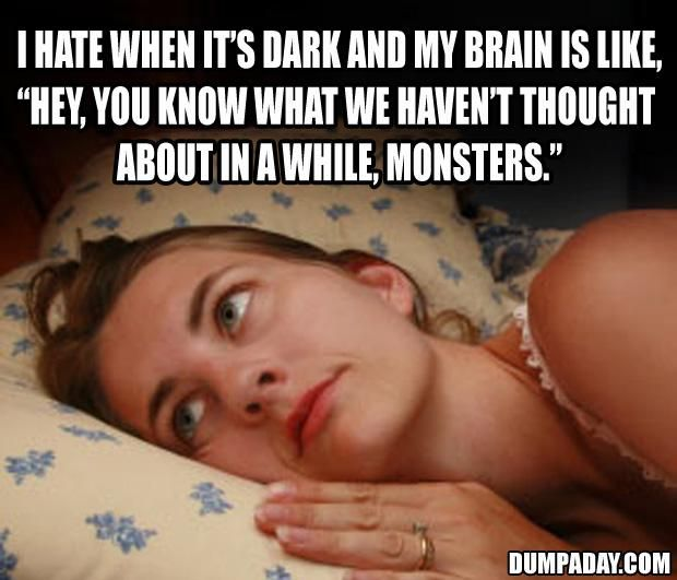 about to sleep when...happens all the time. Remember that movie you saw ten years ago?