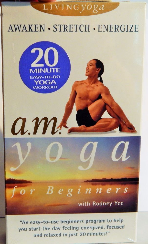 A.M. YOGA FOR BEGINNERS, RODNEY YEE (1993 EXERCISE) VHS BRAND NEW SEALED