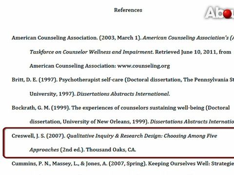 reference page apa template