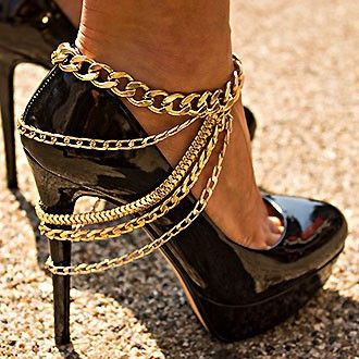 Gold Anklet Bracelet.