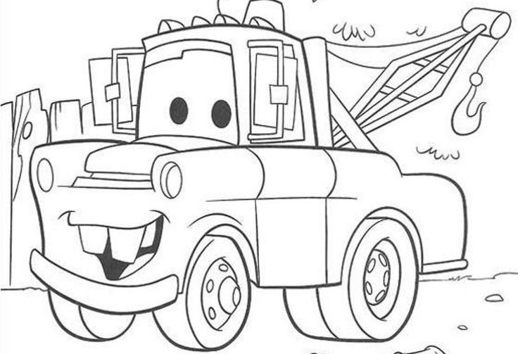 Disney Cars Mater Colouring Pages - Colorine.net | #8090
