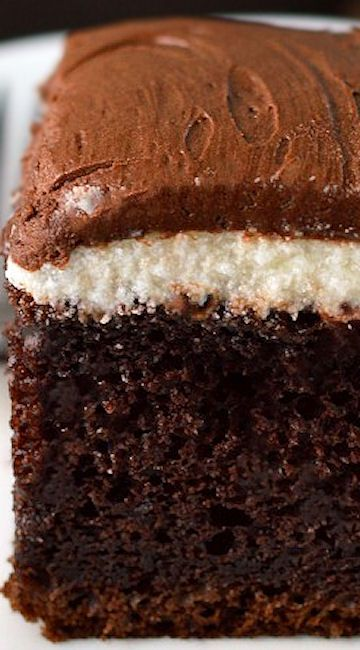 Chocolate Cream Cake ~ with the best ever chocolate frosting!