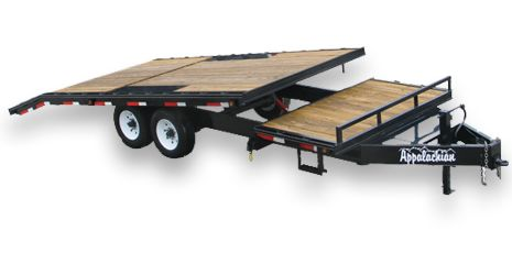 Deckover Tilt Equipment Trailer for Sale by Appalachian Trailers