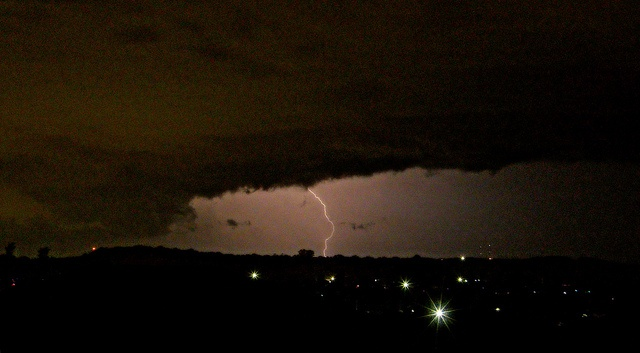 Lightning over the Illawarra Escarpment, during a recent seven-hour thunderstorm. Wollongong, NSW.