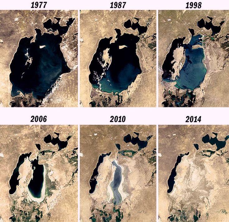 Какое раньше было аральское море фото
