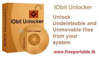 IObit Unlocker Portable PC Software Unlock Undeleteable and Unmovable Files