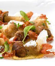 Sprø steinsopp med skinke og parmesan