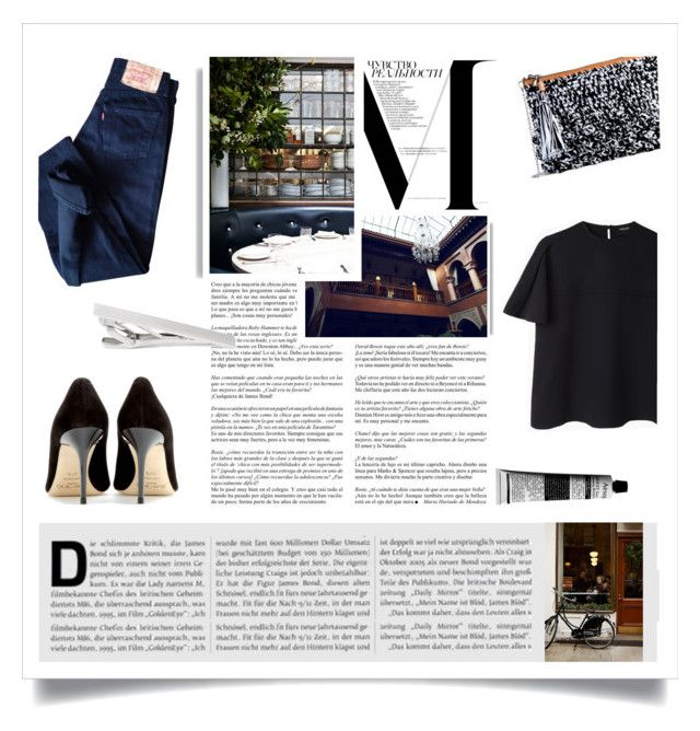 Blue jeans by kelly-m-o on Polyvore featuring polyvore, fashion, style, Rachel Comey, Levi's, Jimmy Choo, M Missoni, Montblanc, Aesop, Whiteley, Prada, denim, Blue, fall2015 and fallwinter2015