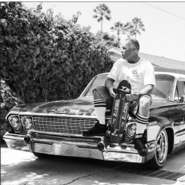 Jay Adams chillin in Skate Heaven... well at least this is how I see him now. Cruisin up & down the Cali Coast just looking for the perfect drained pool to session with all his 'Dead Friends'. I'll get to roll with you one day Jay SkullyBloodrider.