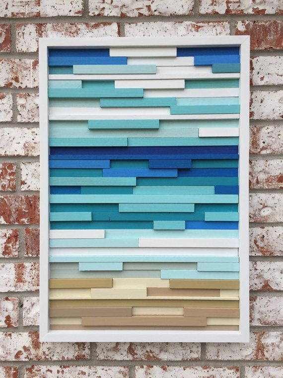 Wood Wall Art - Reclaimed Wood Art Sculpture  Made to order or customize this look:  This artwork is made entirely from upcycled wood scraps. Each
