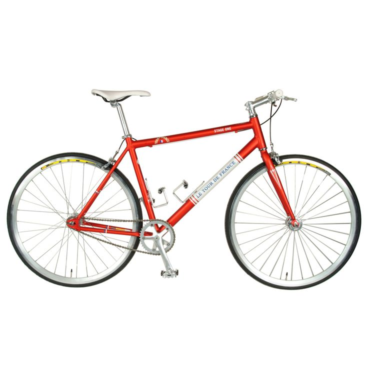 Tour De France Stage One Vintage Red 51cm Single Speed Track Bicycle (Red / White): The Tour… #SportingGoods #SportsJerseys #SportsEquipment