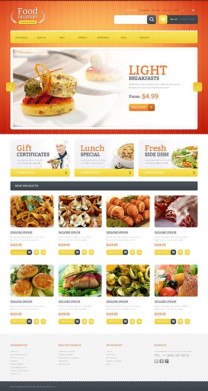 #FoodDelivery Online Store Theme #ResponsiveDesign #Magento 45% off all online store templates 'till Oct. 16th, 2013