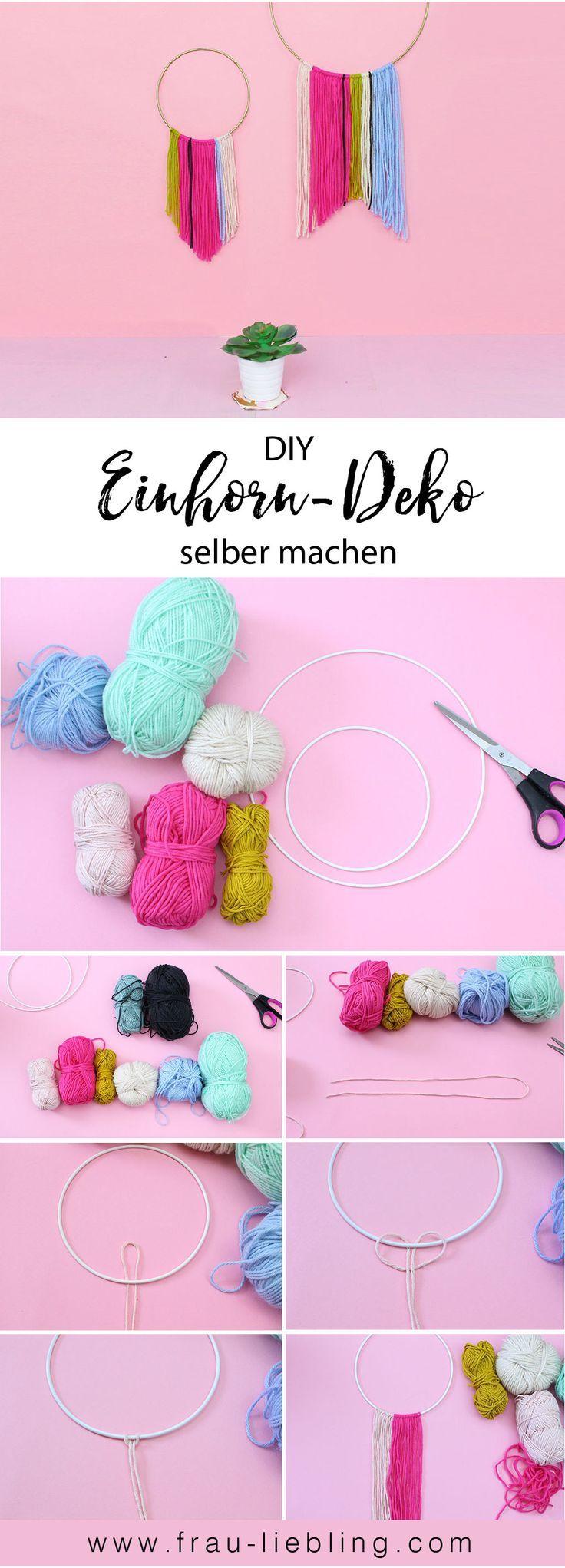 Bunte DIY Einhorn Deko Schnell Und Einfach Basteln