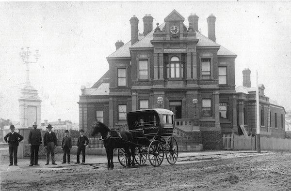 Kew Post Office in Victoria in 1892. •Kew Historical Society•