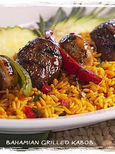 Bahama Breeze - steak kabobs and the best rice ever!!!!