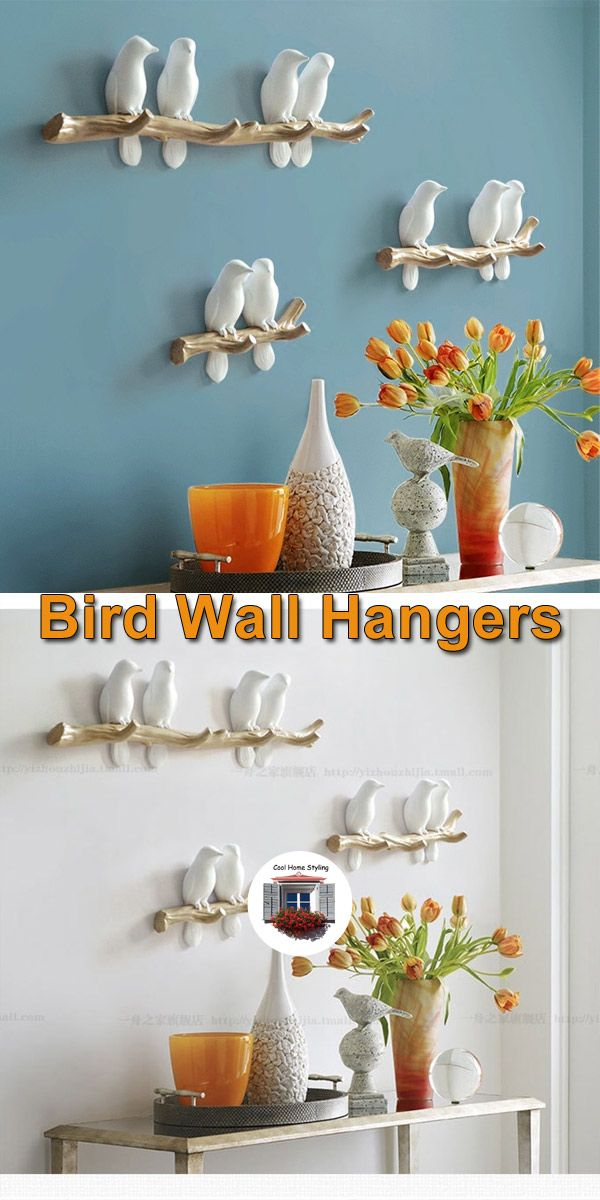 Bird Decoration Wall Hooks Decor Kitchen Decor Items Wall Decor