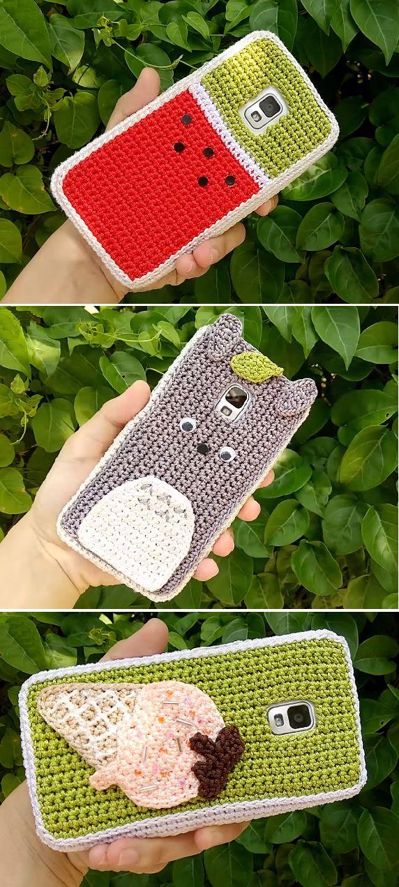 Crochet Phone Cases Watermelon Ice cream Totoro