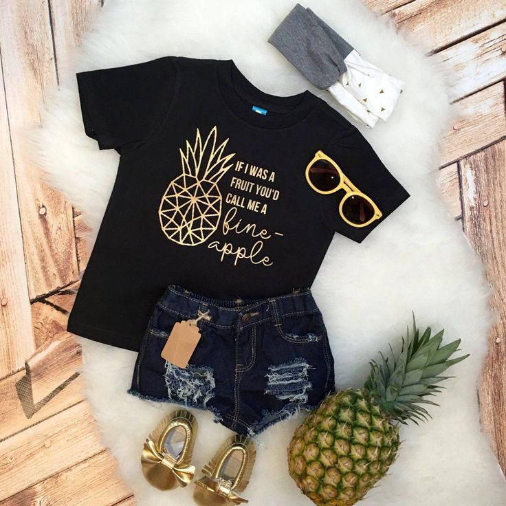 Funny kids baby If I was a Fruit Call me a Fine-Apple tee sassy girls boys hipster Shirt Bodysuit Infant or Toddler geometric pineapple kids