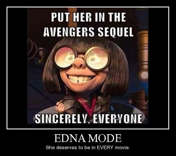 Edna Mode! By far one of my fav characters. Funny how she looks like that IRL
