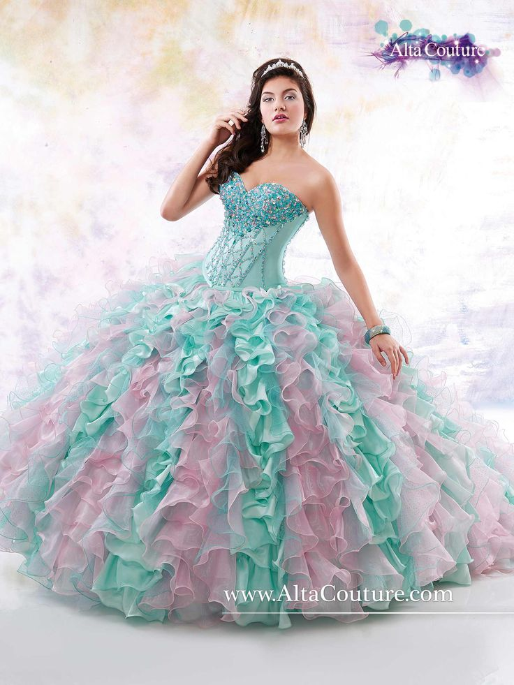 17 Best images about {Mint, Pink and Gold Quinceanera} on ...
